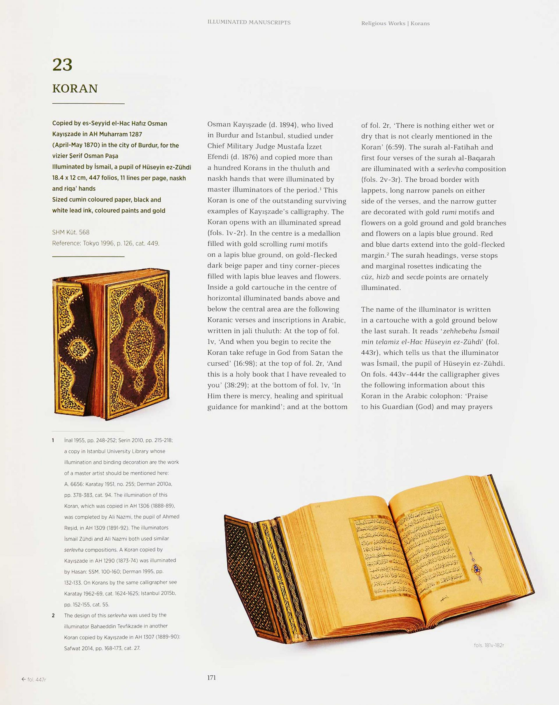 Harmony of Line and Colour - Illuminated Manuscripts, Documents and Calligraphy in the Sadberk Hanım Museum Collection - KİTAPLAR - Sadberk Hanım Müzesi