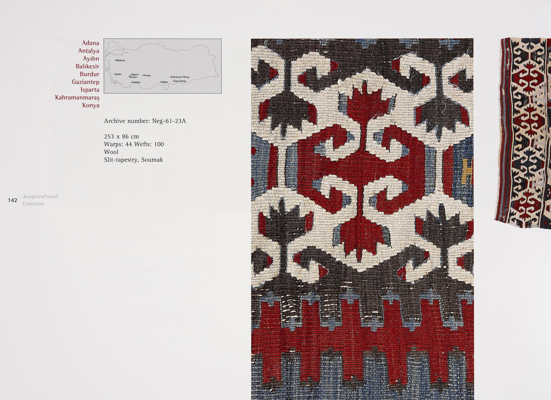 Examples from Kilim - Josephine Powell Collection - Sadberk Hanım Museum