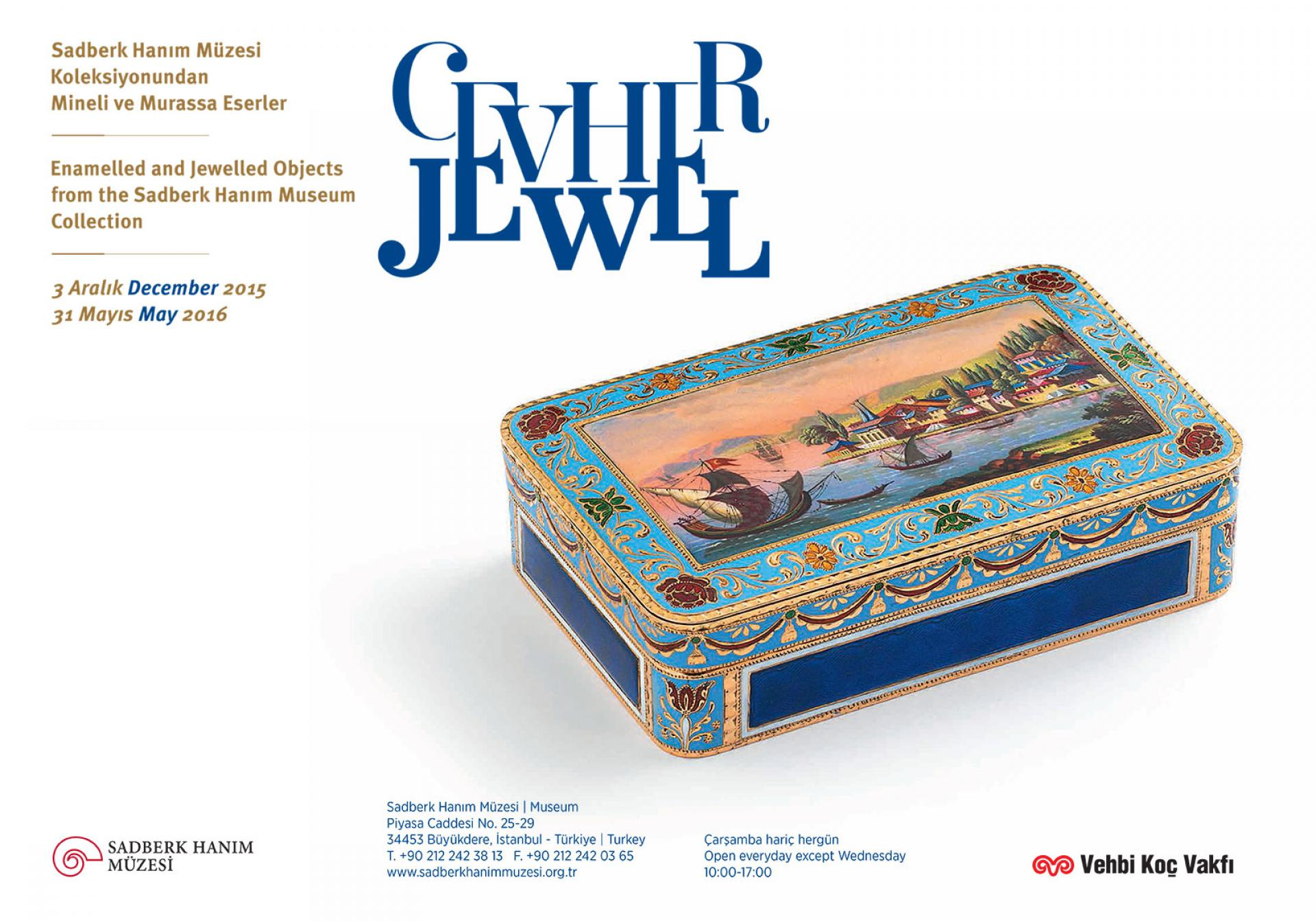 JEWEL Enamelled And Jewelled Objects  From The Sadberk Hanım Museum Collection Exhibition - EXHIBITIONS - Sadberk Hanım Museum