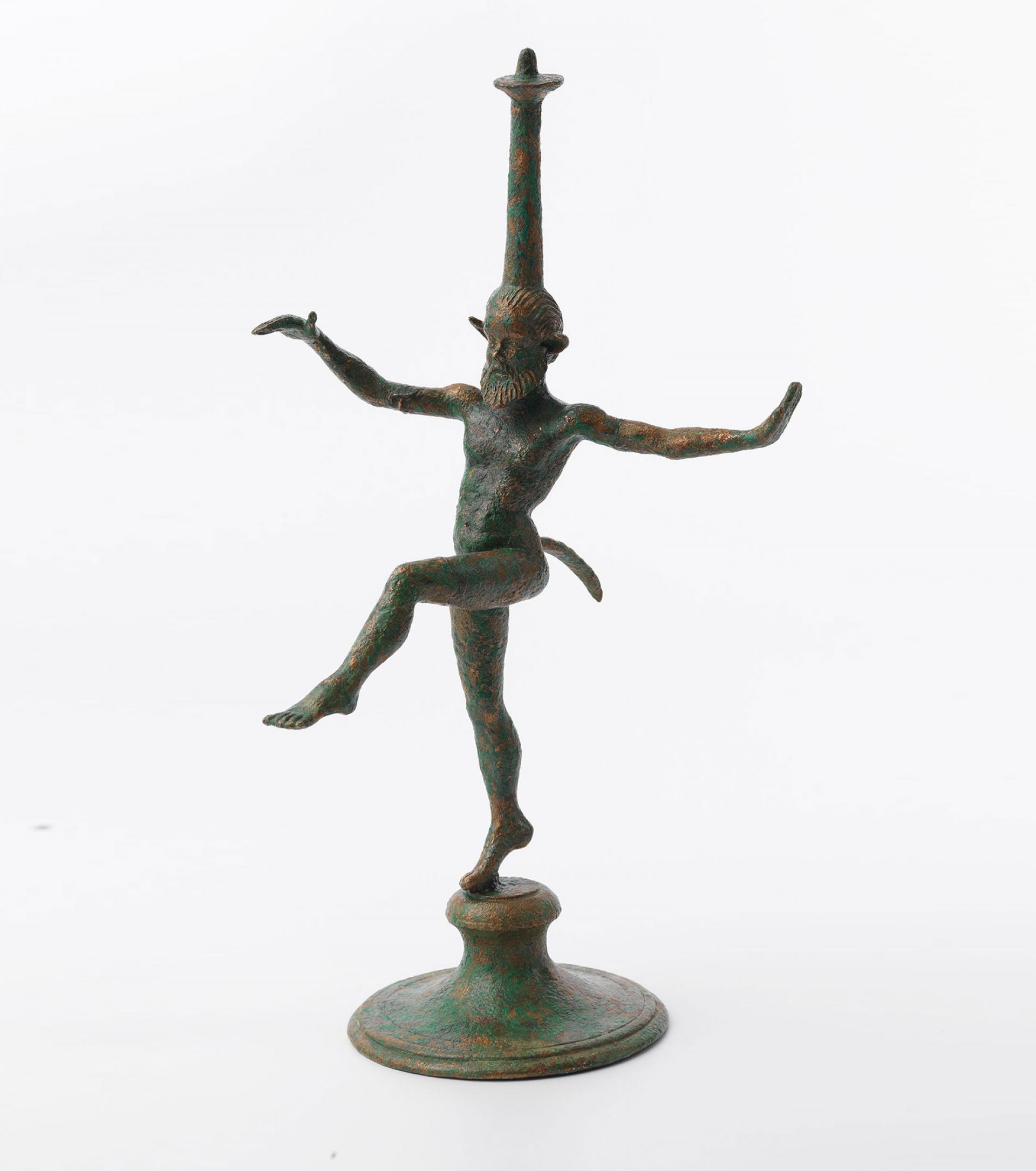 SHM 17228 - Lamp stand in the form of a satyrBronzeClassical PeriodEarly 4th century BC