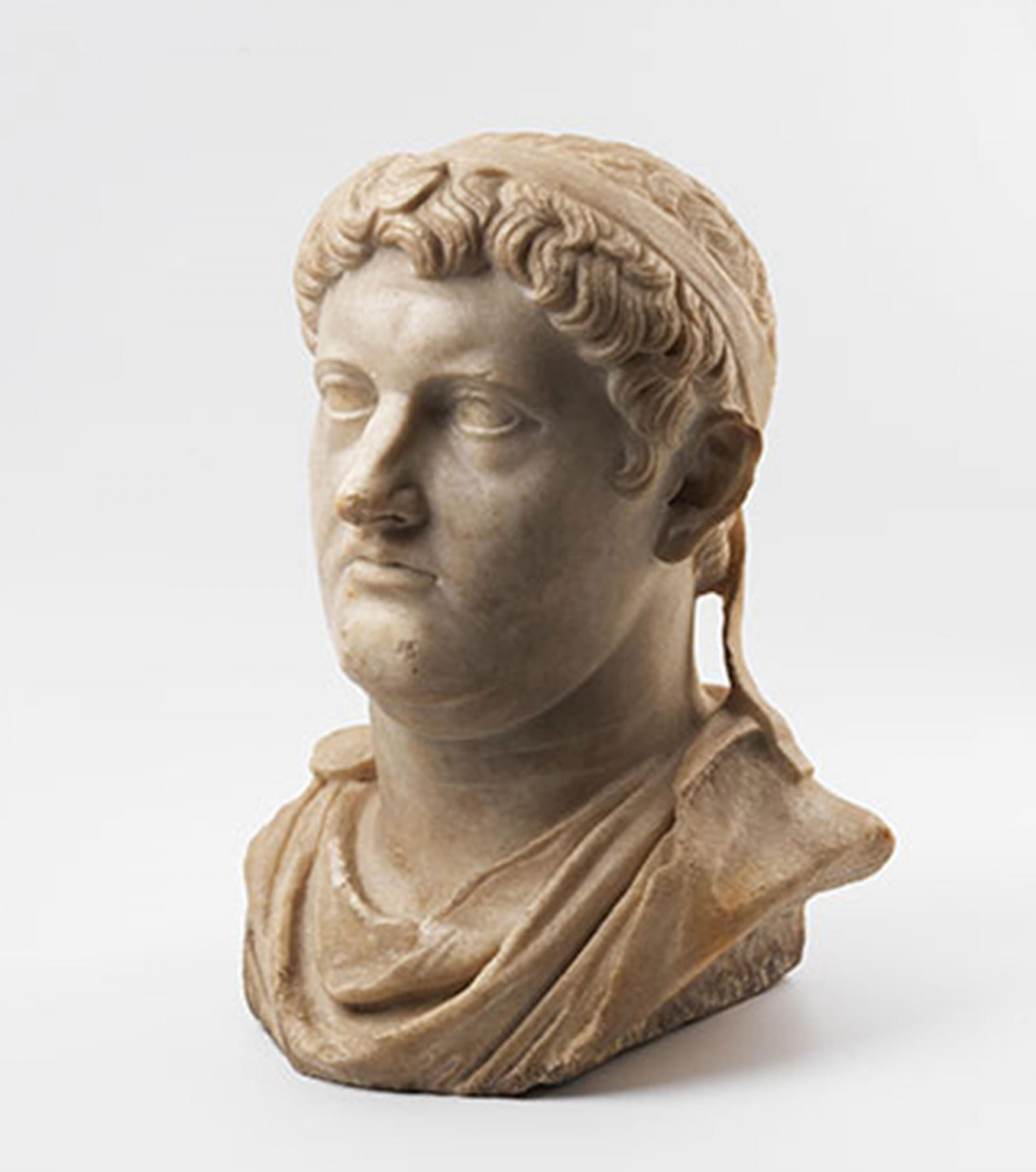SHM 6851 - Bust of Philetairos MarbleRoman Imperial Period1st century AD