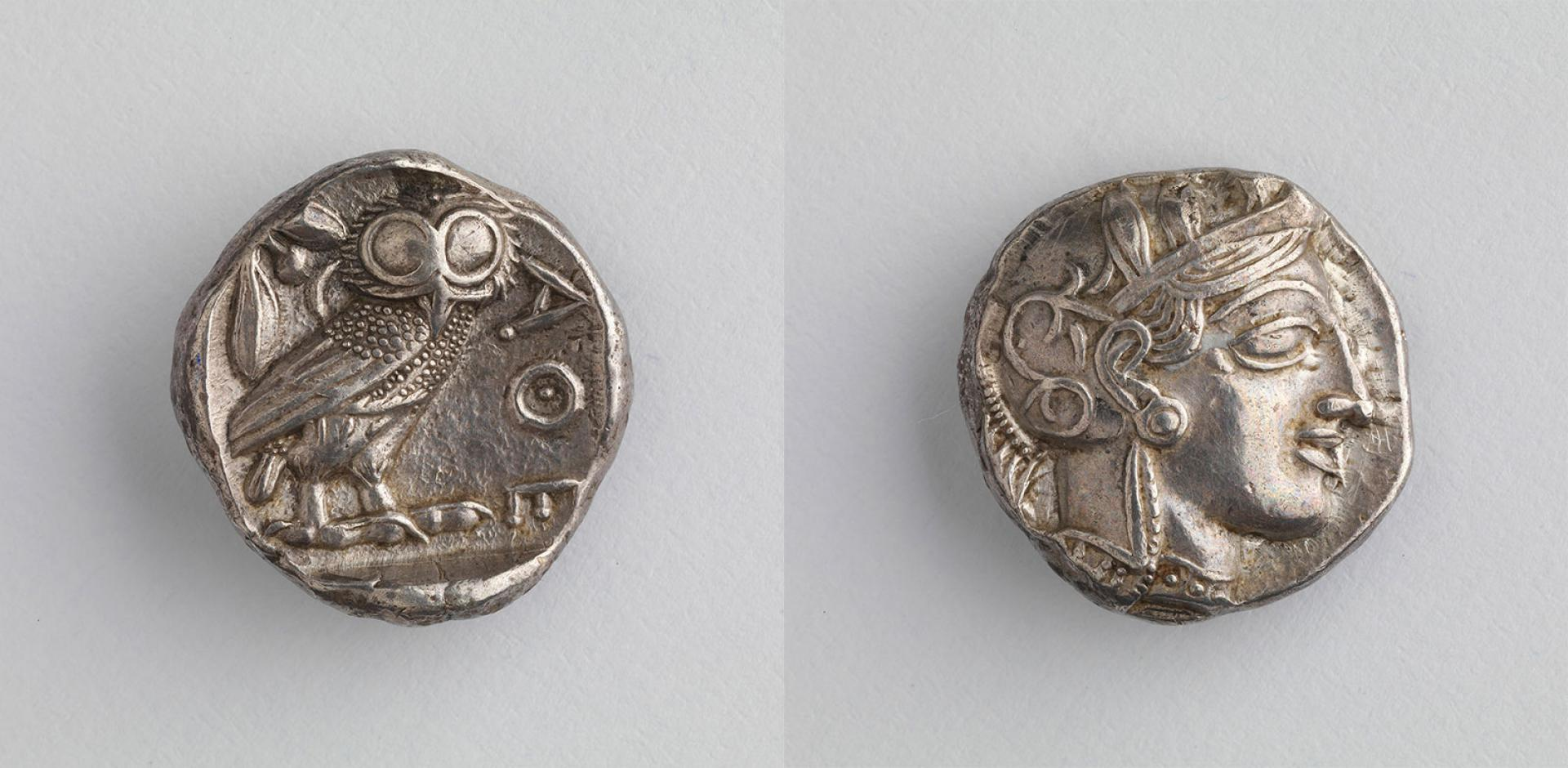 SHM 10195 - CoinSilverClassical PeriodSecond half of 5th century BCAttica