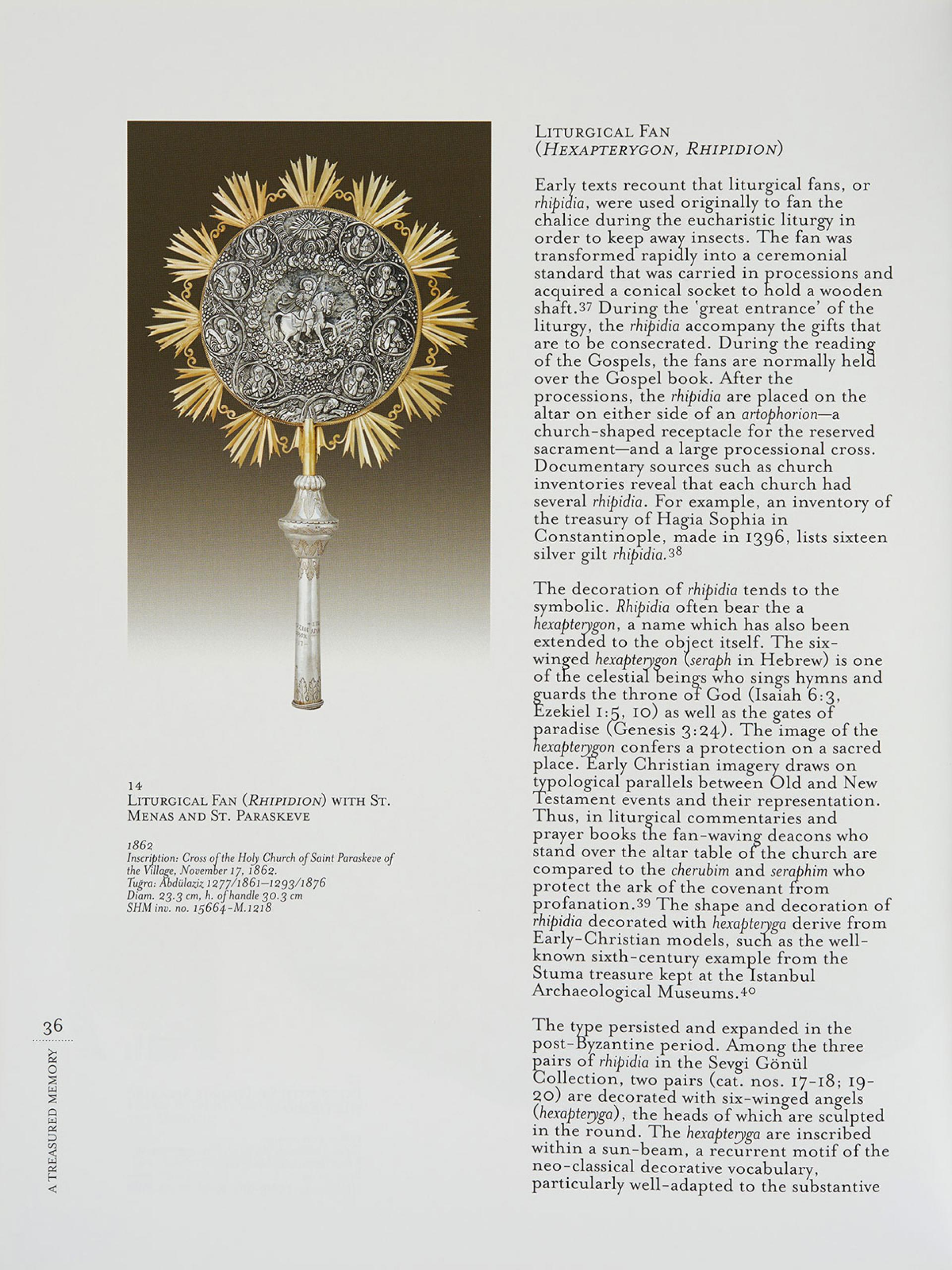 A Treasured Memory Ecclesiastical Silver From Late Ottoman Istanbul in the Sevgi Gönül Collection - KİTAPLAR - Sadberk Hanım Müzesi