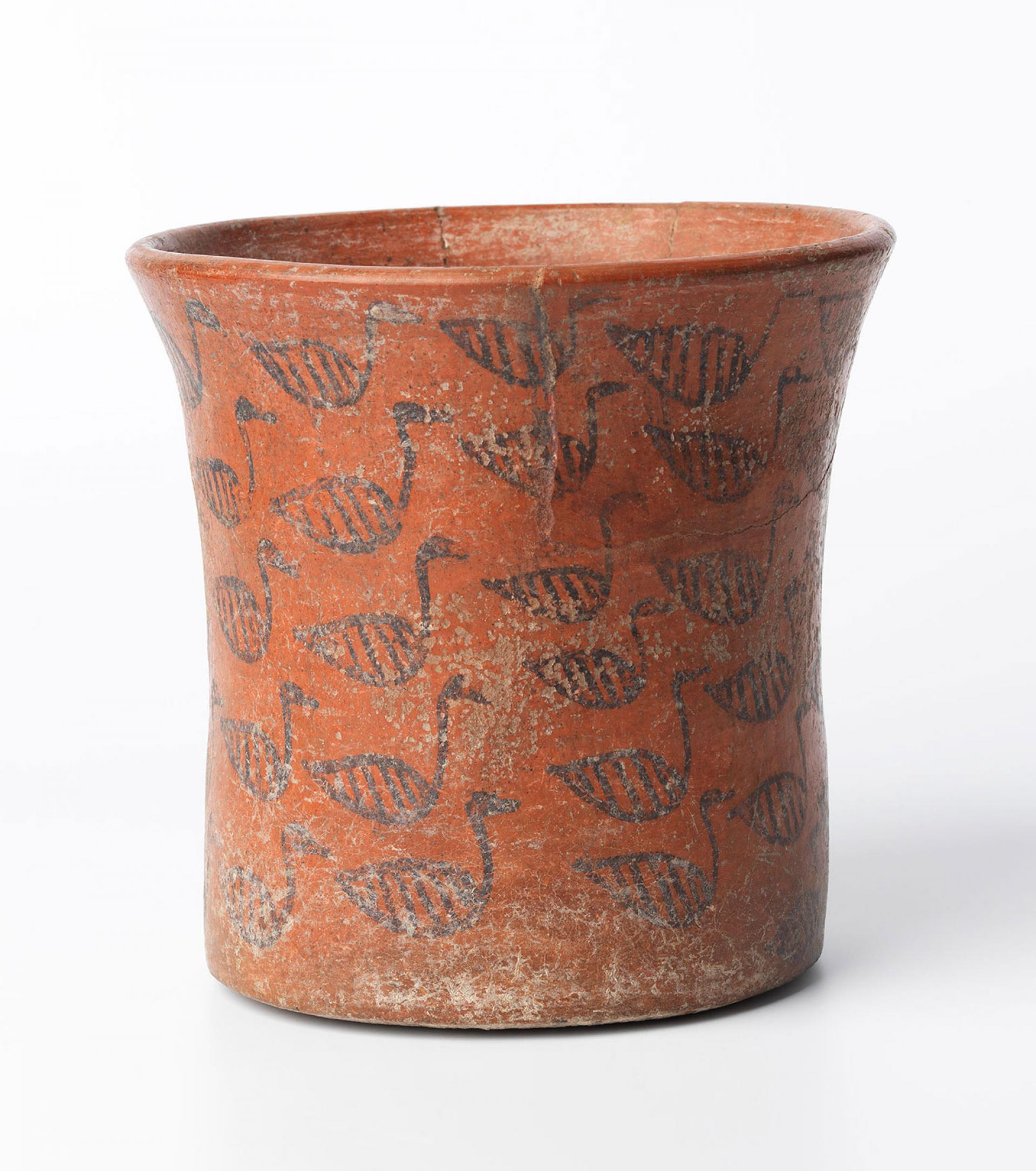 SHM 15242 - Cylindrical vessel Terracotta Hittite Imperial Period Last quarter of 2nd millenium BC Eastern Anatolia