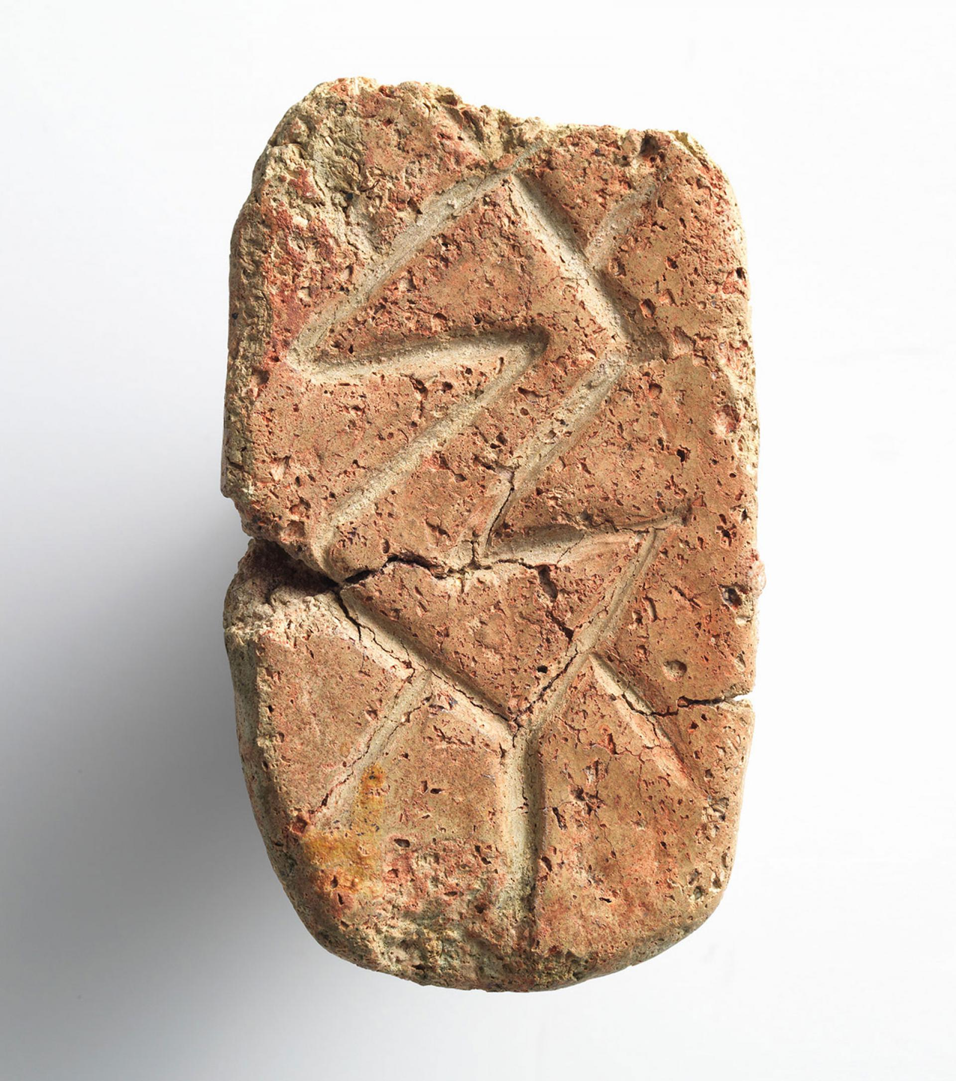 SHM 4609 - Stamp sealTerracottaEarly Chalcolithic AgeMid 6th millenium BCLakes Region