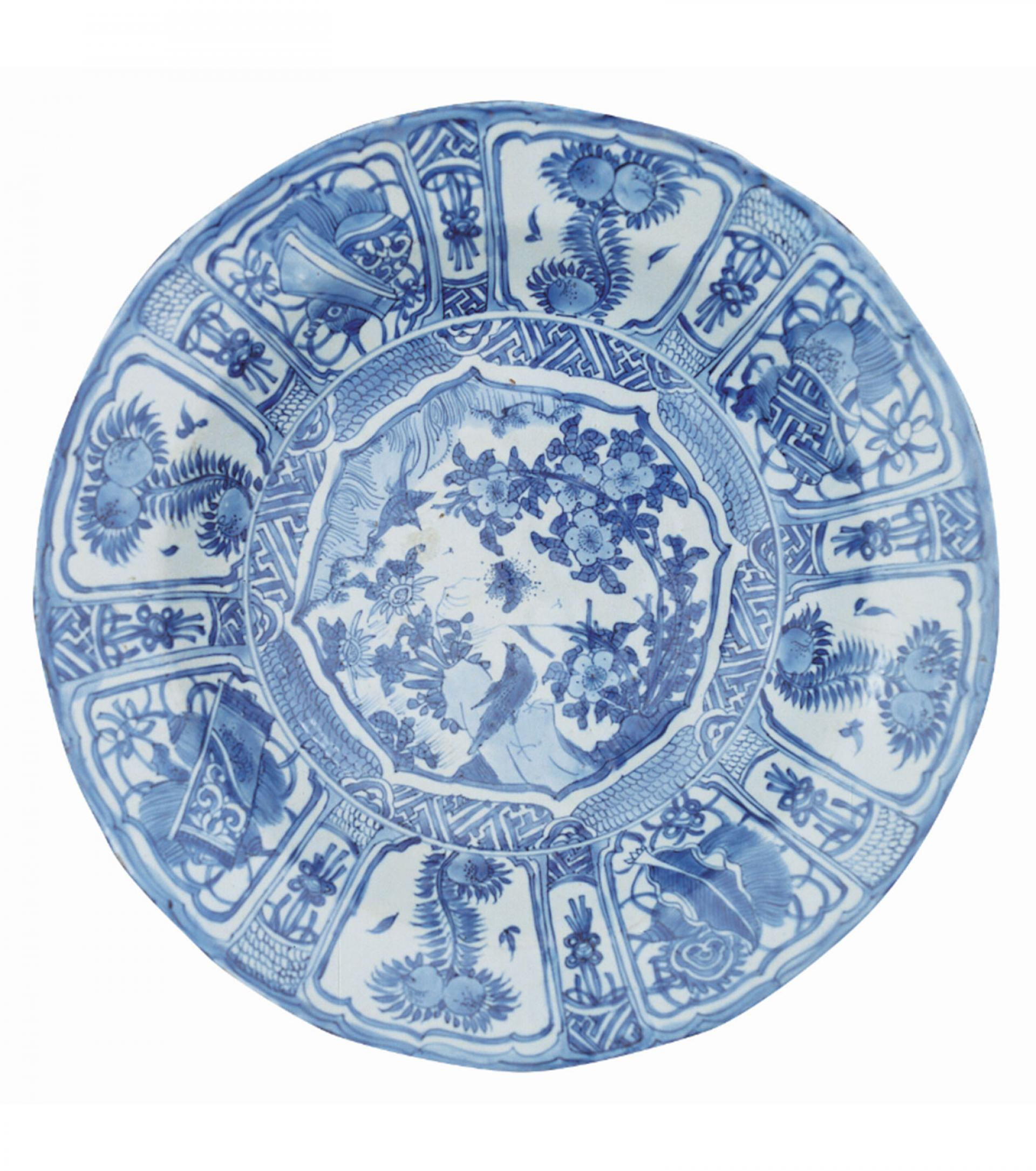 "SHM3123 - Plate ""KraakPorcelainChinese, late 16th - early 17th century"